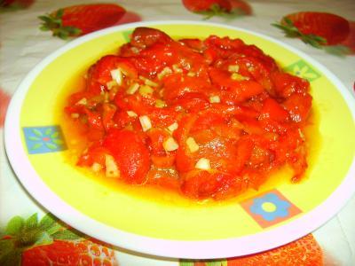 Pimientos asados con ajo