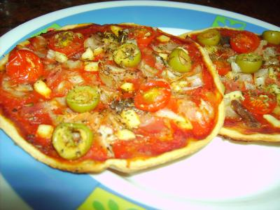 Mini pizzas ( Chef o matic y horno)